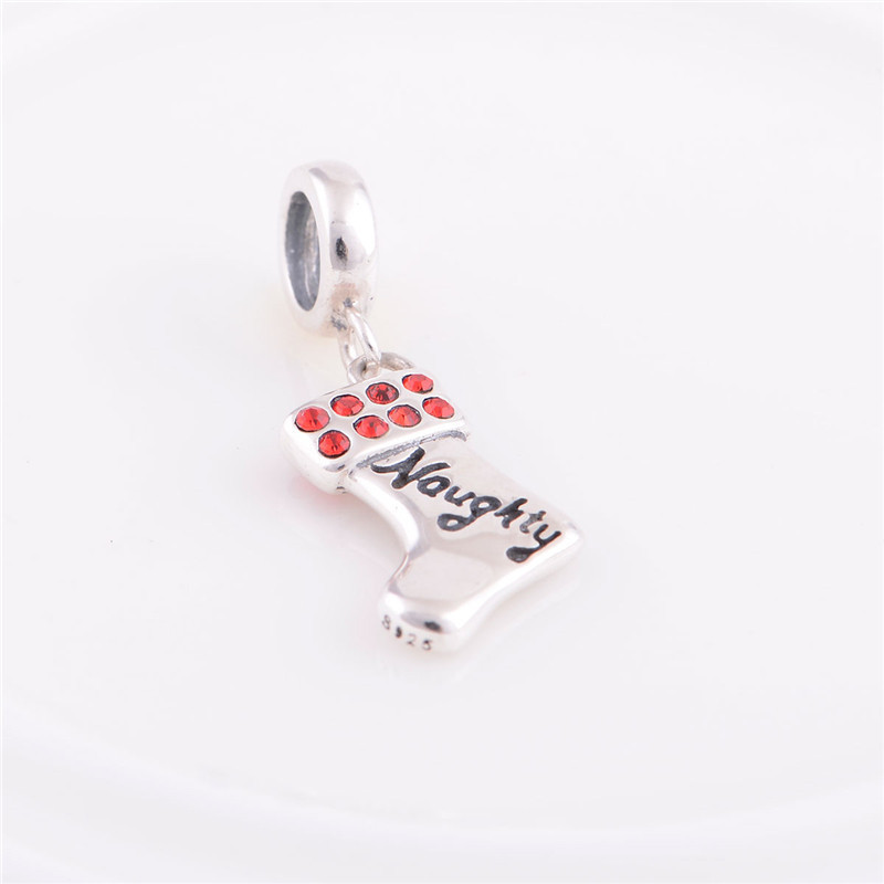 New 925 Sterling Silver Bead Christmas Gift Hand Made Baby Naughty Charm DIY Jewelry Findings Fits For Chamilia Bracelet(China (Mainland))