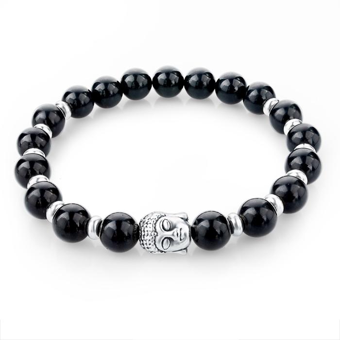 Pulseras Mujer Tiger Eye Stone Buddha Beads Bracelets Elastic Charm Bracelet Rope Chain Natural Stone for