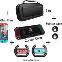 Para Nintendo Interruptor Nintend Caso Protetora de Cristal Shell Duro Destacável Saco Coque Ultra Fino Para Nintendo64 Console NS Caso NX(China)