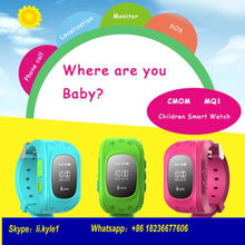 Android Ios Smart Kid Safe GPS Watch Wristwatch SOS Call Location Finder Locator Tracker for Kid Child Anti Lost Monitor Q50