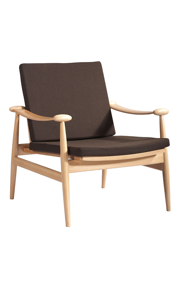 Modern minimalist fashion wood chair leisure chair sofa for Wooden chairs for living room