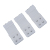 New 3pcs Women White 2 Rows Hook and Eye Tape Stretch Bra Strap Extenders
