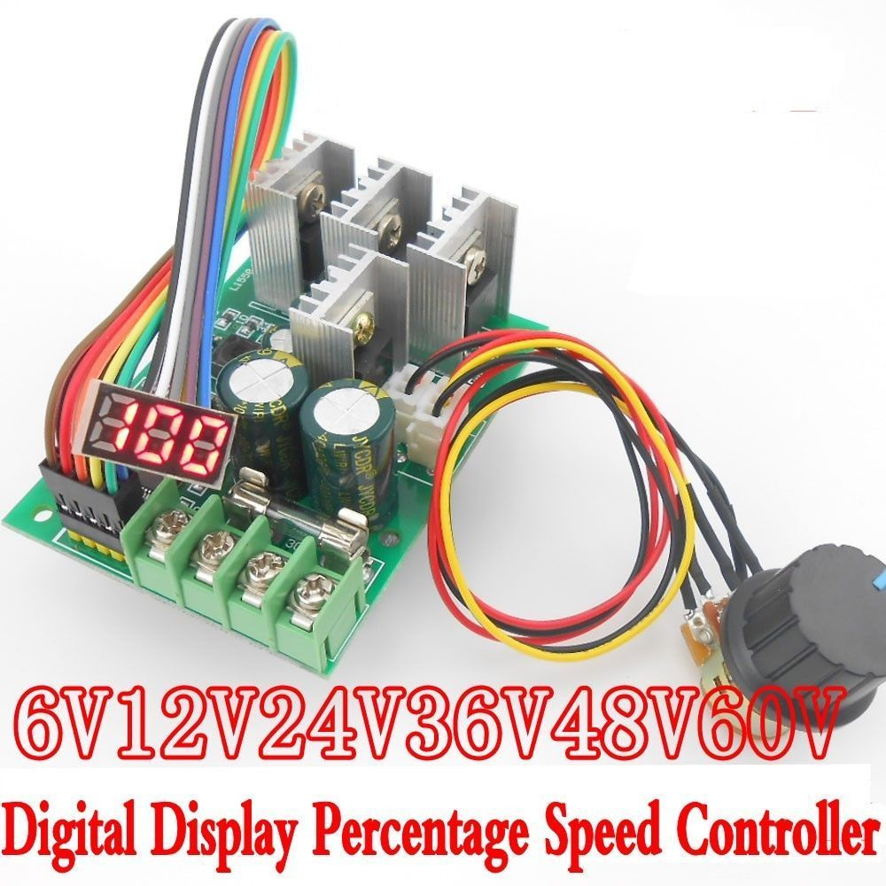 Free shipping pwm dc motor speed controller digital for Digital dc motor speed control