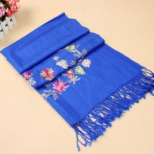Dark blue shawl Hot !! New high quality Scarf Chinese Lady Cashmere Pashmina Embroidered Shawl/Scarf /Scarves Wrap free shipping(China (Mainland))