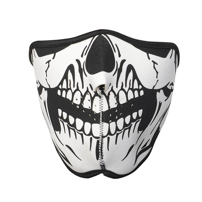 Multifunction Cosplay Bike Skeleton Mask Costume Halloween CS Mask Cycling Motorcycle Paintball Half Face Mask Winter Face Mask(China (Mainland))
