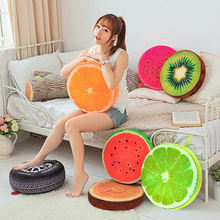 New Creative Cute 3D Print Summer Fruit PP Cotton Office Chair Back Cushion Sofa Throw Pillow Home Decor(China (Mainland))