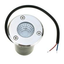 La lámpara enterrada lámpara subterráneo del LED 3 W AC85-265V de la mazorca llevó la luz enterrada IP67 blanco cálido / blanco / rojo / verde / azul llevó la luz subterráneo(China (Mainland))