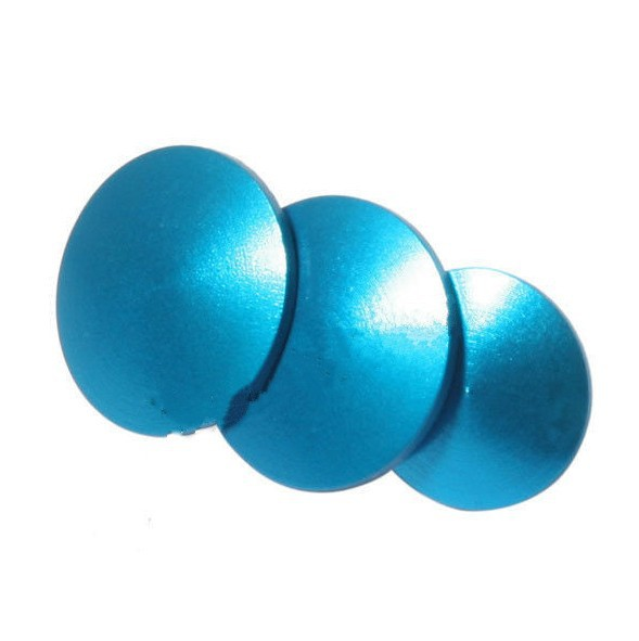 F09102-3 9pcs Aluminum Anodized Color Button Individual DIY Modified Buttons Set For Gopro Hero 3+ HD 3+ Color Blue(China (Mainland))