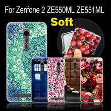 CaseRiver Case Asus Zenfone 2 Deluxe Z00AD 5.5 inch, Phone Zenfone2 ZE550ML ZE551ML Soft Silicone - 3C Lemon Tree store