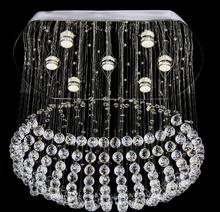 Modern flush mount K9 crystal chandelier lighting fixture L66*w48*H60cm luxury foyer chandeliers(China (Mainland))