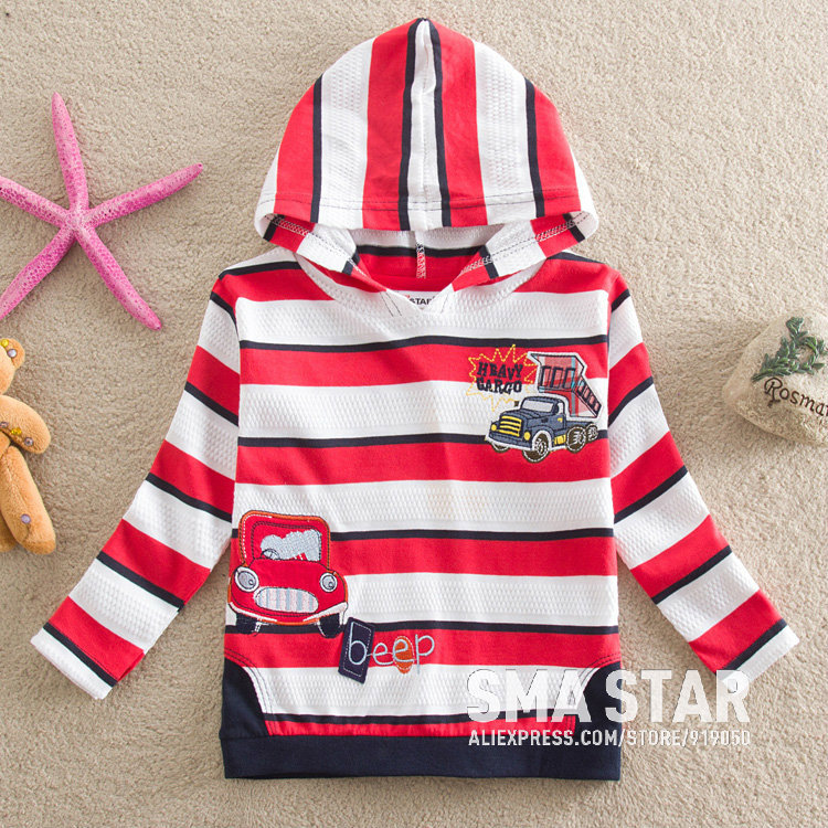 Wholesale Children Clothes With Long Sleeve Brand Shirts For Baby Kid Designer Teenage Boys Fashion Hooded Tee Shirts SMAL85508(China (Mainland))