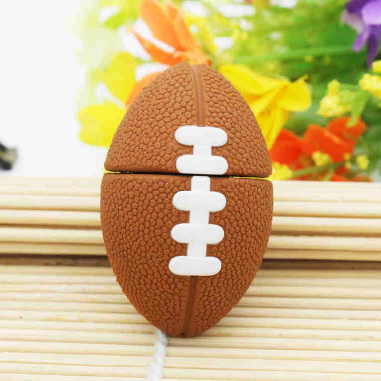 New Free shipping mini Rugby USB Flash Drive American Football pen drive 4gb 8gb 16gb 32gb sports pendrives cartoon memory stick(China (Mainland))