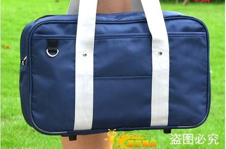 Japan Cosplay Lolita Uniform Japanese School Bag K-ON !Kuroko no Basuke BLUE and BLACK Handbag(China (Mainland))