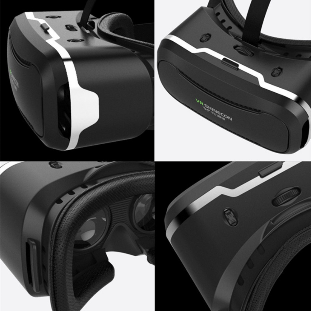"""ถูก 3D VR Shinecon 2.0แว่นตาเสมือนจริงหมวกกันน็อคกล่องแว่นตากรณีG Oogleกระดาษแข็งสำหรับ4.7-6.0 """"iOS A Ndroidโทรศัพท์+เกมGamepad"""