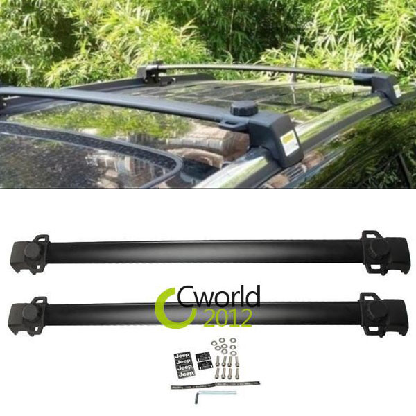 1 Pair Car Auto Roof Rack Cross Bars Aluminum Adjustable Cargo Luggage Carrier Shaft For Jeep Compass 2011-2014(China (Mainland))
