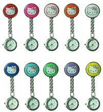 Free & drop Shipping 1pcs/lot retail wholesales hot sales high quality cute hello kitty nurse alloy Stainless steel pocket watch