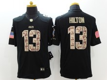 100% stitched Indianapolis Pat McAfee Andrew Luck T.Y. Hilton white Black Green Salute,camouflage(China (Mainland))