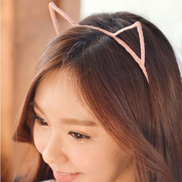 1 PC 5 Colors Stylish Women Girls Cat Ears Headband Hairband Sexy Head Band Self Photo Prop Hair Band Accessories(China (Mainland))