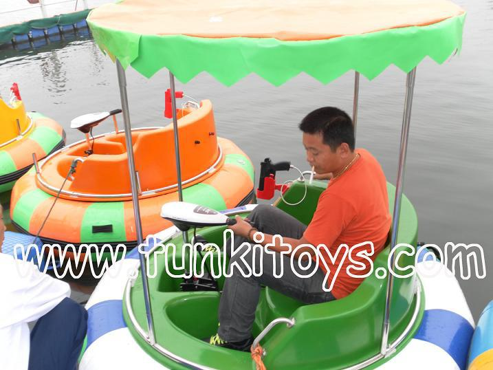 rotate inflatable electric bumper boat(China (Mainland))