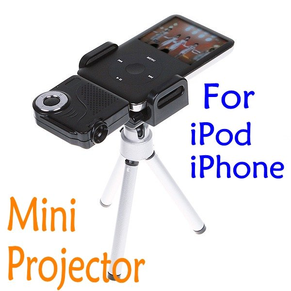 Free shipping portable pocket cinema mini multimedia pico for Best portable projector for iphone