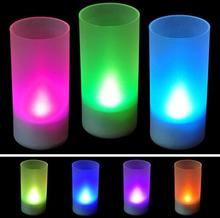 1 Pieces Brand New Colors Changing Creative Voice Control Candle LED Night Light Decoration Lamp Nightlight,great gift for kids(China (Mainland))