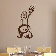 Fork Spoon Wall Sticker Creative Kitchen Restaurant Wall Decor Accessories Removable Vinyl Art Wall Decals