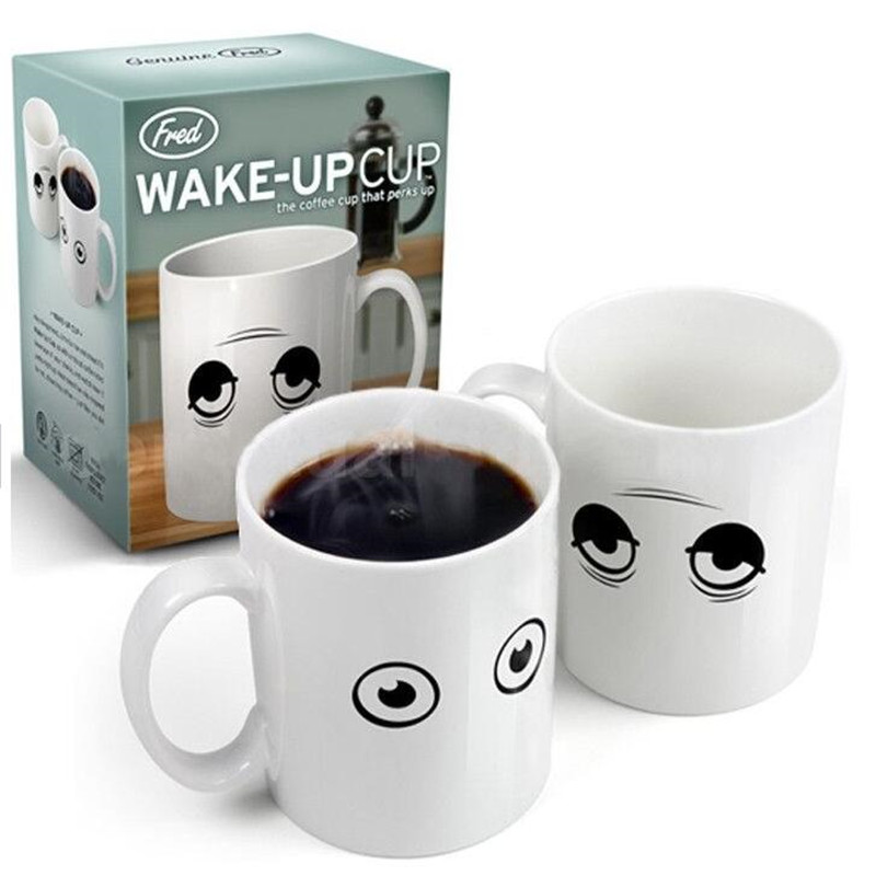 Creative Wake-up Cup Temperature Magic Eye Discoloration Cup Wake Up Coffee Mug Tea Water Cups Copos My Bottle Tazas Cafe Crafts(China (Mainland))