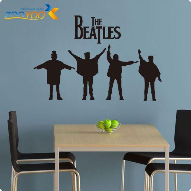 The Beatles на стены 2015 новых конструкций Removabl рок-музыка плакат стены наклейки бумаги стены искусства росписи
