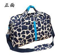 2015 New arrivel Leopard luggage bag Large capacity travel handbag women's collapsible bag jaunt messager bag for men(China (Mainland))