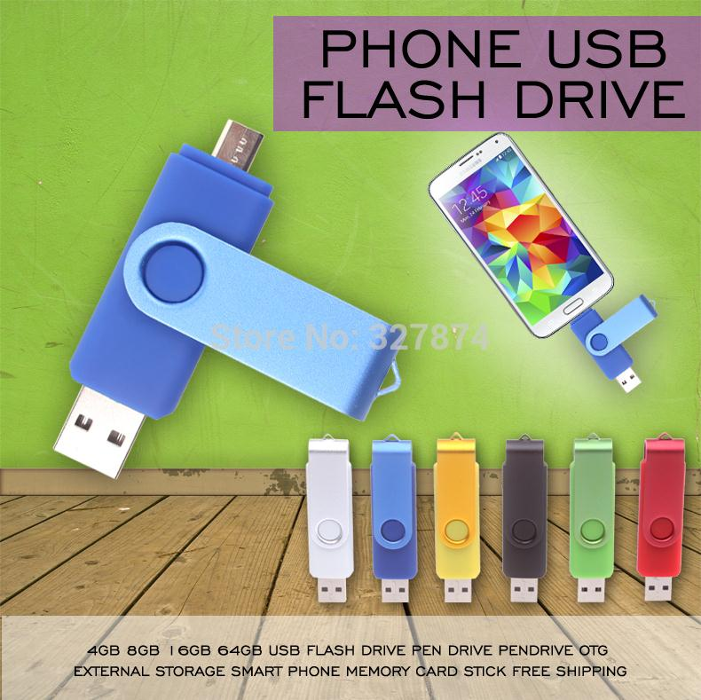 New 2014!!! Smart Phone USB Flash Drive 64gb pen drive 32gb pendrive 8gb OTG external storage micro usb memory stick for Samsung