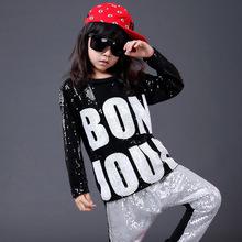 Little Andy Lau children's jazz dance performance of female children's hiphop Hip Hop Dance Costume Girls show clothes