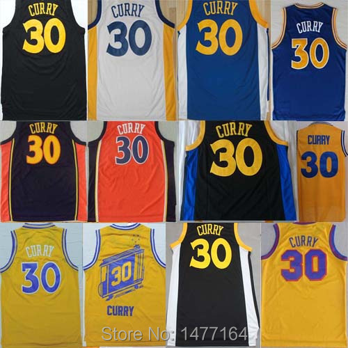 Stephen Curry Jersey Hot Sale, Golden State #30 Curry Basketball Jersey Shirt Black White Yellow Blue Orange Steph Curry Jerseys(China (Mainland))