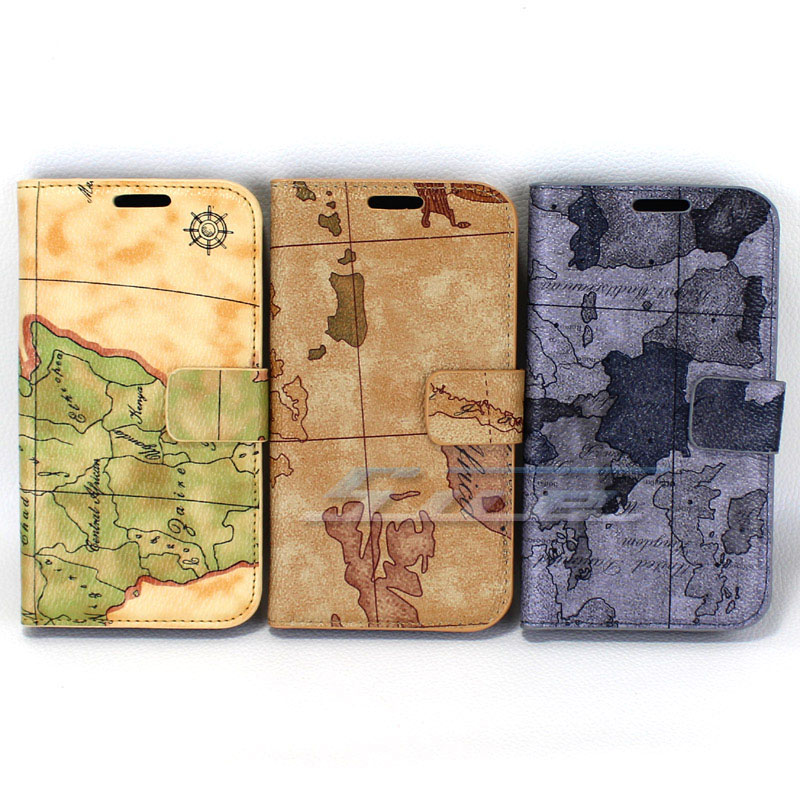 Hot Sale Map Style For Samsung Galaxy SIII S3 I9300 Flip PU Leather Stand Wallet Handbag Case Cover Free Shipping(China (Mainland))