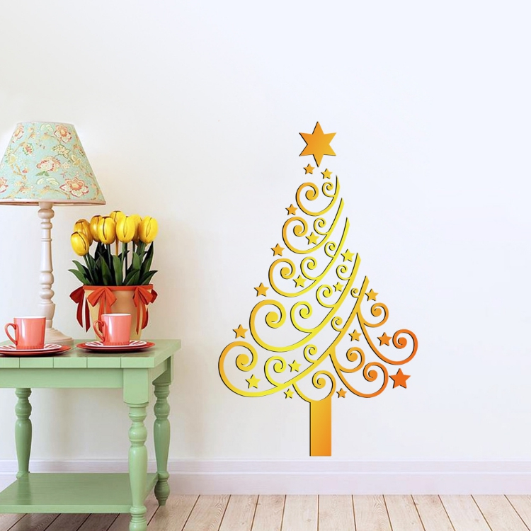 Christmas tree wall decal promotion shop for promotional christmas tree wall - Decoration mural en metal ...