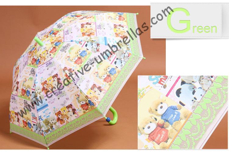 Children umbrella,kid EVA umbrella--Little bear,auto open.8mm metal shaft and fiberglass ribs,safe open kid umbrellas,universal(China (Mainland))