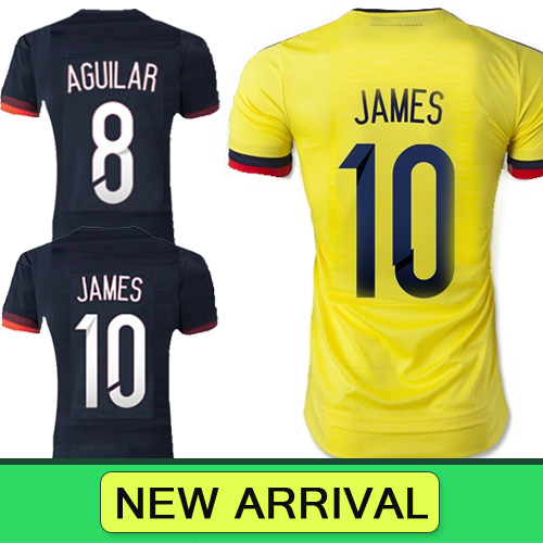 2016 Free shipping Colombia women Soccer jersey 2015 football shirts 15 16 colombia 2015 Copa america girl soccer jerseys Mujere(China (Mainland))
