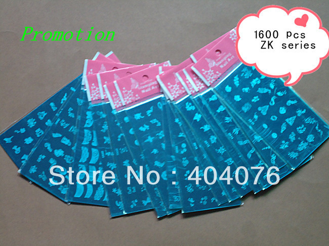 Promotion 1600pcs ZK Series Template Image Plate Stainless steel DIY Nail Art WHOLESALE #107(China (Mainland))