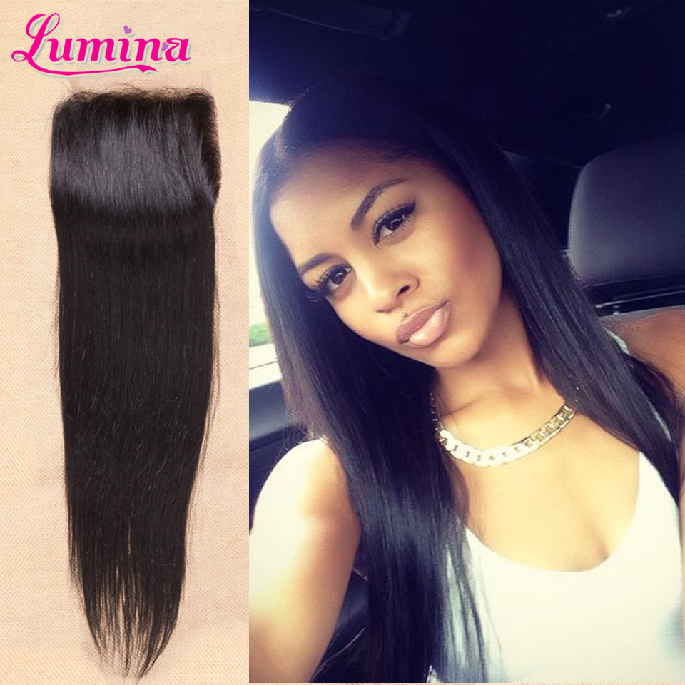 2016 Best Luxy Hair Company Closure Virgin Brazilian Straight Closure 4 x 4 Brazilian Straight Lace Closure With Free Shipping<br><br>Aliexpress