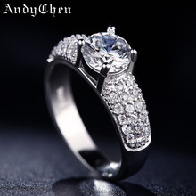 925 Sterling Silver jewelry rings fashion bague zircon bijoux wedding vintage ring accessories engagement rings for women ASR024