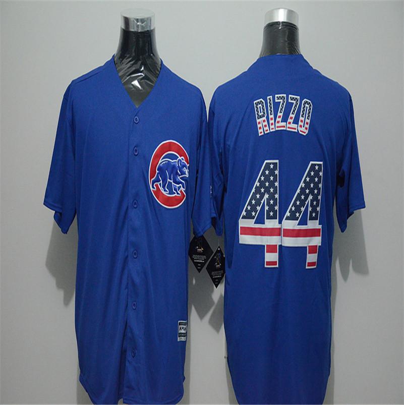 Mens Fashion Flag Ver. #17 Kris Bryant #22 Jason Heyward #44 Anthony Rizzo #49 Jake Arrieta Jersey Color Blue Baseball Jerseys(China (Mainland))