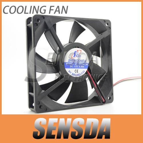Free Shipping via dhl Radiator 12cm cooling fan 12025 120mm 12v 0.40A ball bearing case axial computer cpu cooling fans cooler<br><br>Aliexpress