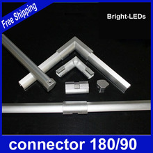 Retail Sale Accessories KIT LED bar lights connector 180/90 degrees led rigid strip light connector and end cap(China (Mainland))
