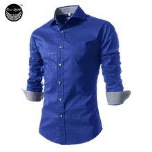 Camisa Masculina Slim Fashion Men Shirt 2016 New Brand Casual Long-Sleeved Chemise Homme Plaid Male Large Size XXXXL(China (Mainland))