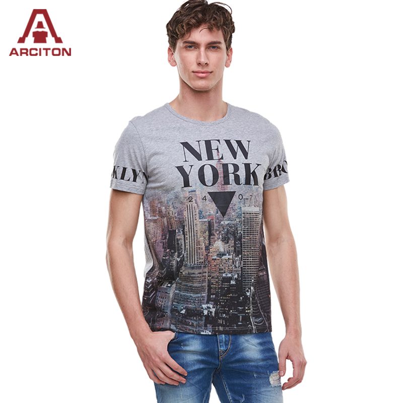 2016 new arrival 100 cotton printed t shirt men new york for Unusual shirts for men