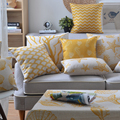 Wholesales Linen Pillow Cover Yellow Grey Cushion Cover Nordico Geometric Style Home Decorative Pillow Case 45x45cm
