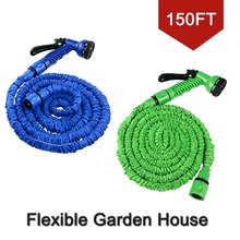 Freeshipping Car washer 150FT with sparyer be stretch and expandable up to 3 times as long as origin green or blue(China (Mainland))