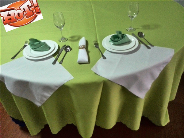 10pcs 90'' Round Polyester Tablecloth Wedding table Linens for free shipping(China (Mainland))
