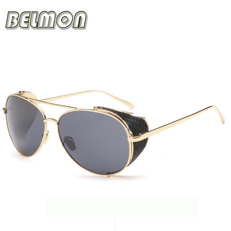 BELMON Steampunk Goggles Sunglasses Men Women Brand Designer Sun Glasses For Ladies Steam Punk Vintage Female Male Oculos RS102(China (Mainland))
