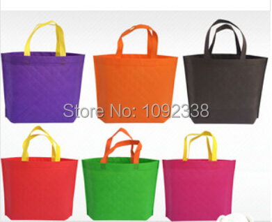 2016 New Design Plaid Non Woven Shopping Bags Can Be Printing Customers' Logo 500 PCS/Lot Size 41x32x8cm Free Shipping By Fedex(China (Mainland))