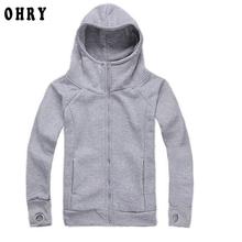 2016 New Arrivals High Quality Winnter Men Hoodies Sweatshirts Autumn Casual Solid Color Zipper Thick Hoodies Warm Sports Coat